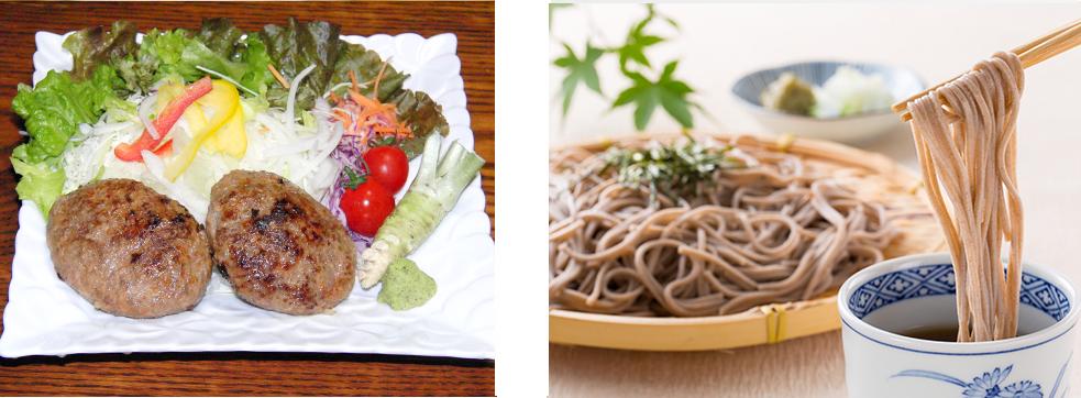 お肉屋お蕎麦にも藤井わさび園のわさびはベストマッチ!
